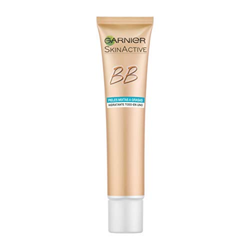 Garnier Skin Active BB Cream Matificante Crema Correctora y Anti Imperfecciones para Pieles Mixtas a Grasas, Tono Medio SPF20, con Vitamina C - 40 ml