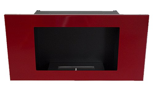 Fireplace Fire Place VALENCIA DELUXE Red Bio Ethanol Gel + adjustable Firebox