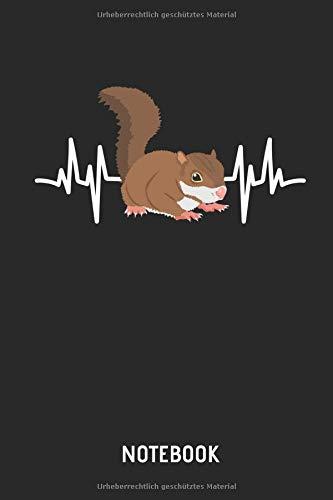 Eichhörnchen  |  Notizbuch: Liniertes Schreibheft mit Eichhörnchen Herzschlag Bild / Zeichnung für Frauen, Männer & Kinder. Tolle Geschenk Idee für alle Eichhörnchen Freunde.