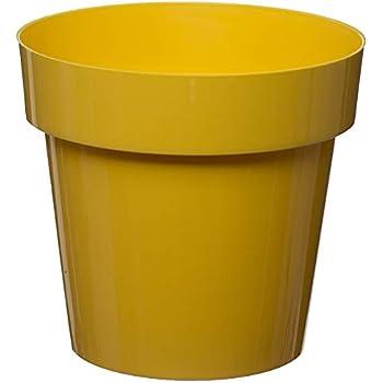 Milano Planter Tall Plastic Plant Pot Gloss Finish Indoor//Outdoor Use Yellow x1