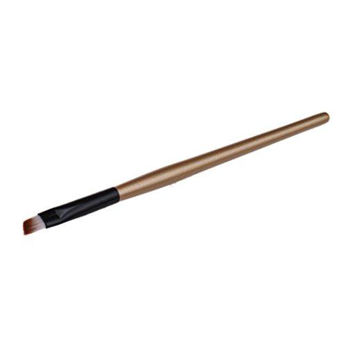 Haare Färben Metallic (Longra 1 PC Augenbrauenpinsel Kosmetik Make-up Pinsel schräg reale Techniken Klein Dünn)