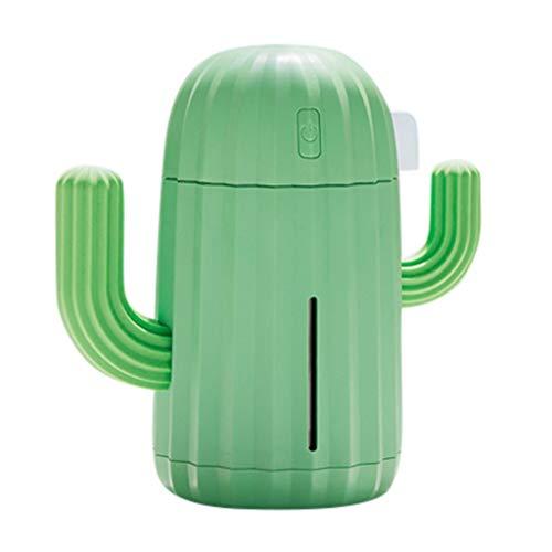 Tonsee USB Mini Luftbefeuchter Tragbare Aroma Diffuser Licht Nette Kaktus Dekorativer Bonsai Elektrische Dufrlampe für ätherische Öle Aromatherapie 340 ML für Zuhause, Büro, Spa,Auto (B)