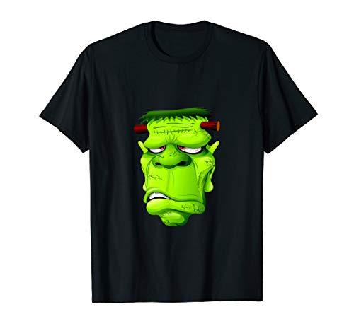 Shirt grün Frankenstein Halloween Kostüm T-Shirt ()