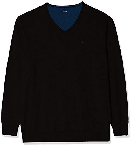 TOM TAILOR für Männer Pullover & Strickjacken Basic Pullover mit V-Ausschnitt Black, 5XL