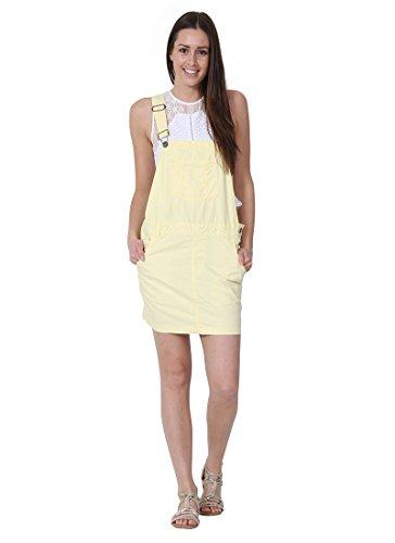 USKEES CLAIRE Kurze Latz Kleid Oversized Latzhosenkleid Damen-Latzkleid Modisch CLAIRELEMON-8