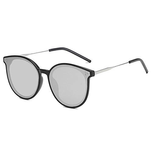 CRAVEN Damen Markendesigner Sonnenbrille High-End Herren Damen Polarized Sonnenbrille Damen Cat Eye Sonnenbrille, schwarzer Rahmen, Quecksilber