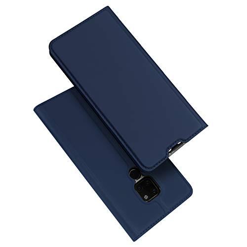 DUX DUCIS Huawei Mate 20 Hülle, Leder Flip Handyhülle Schutzhülle Tasche Case mit [Kartenfach] [Standfunktion] [Magnetverschluss] für Huawei Mate 20-6.53