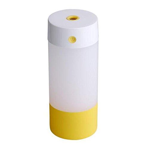 Cool Nebel Ultraschall Luftbefeuchter - Meedot 250ml USB tragbaren Mini Luftbefeuchter Luftreiniger mit Wasser Flasche Tasse Yellow (Tragbare Mini-wasser-heizung)