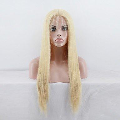 Hochwertige brasilianisches Virgin Full Lace Echthaar Perücke glattes Haar blonde Nr. 613Farbe Echthaar virign Spitze Perücke für Mode Frau -