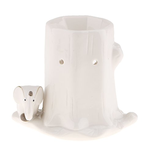 non-brand MagiDeal Quemador de Incienso de Cerámica Diseño de Animal Candelabro de Vela Decoración de Hogar - Elefante