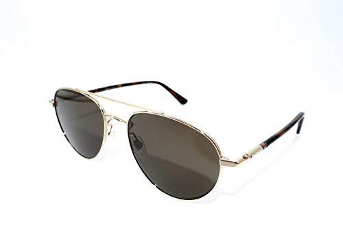 Gucci Sonnenbrillen (GG-0388-S 008) gold - havana - grau-braun (Sonnenbrillen Gucci Männer)