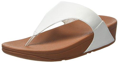 Fitflop Damen Lulu Leather Toepost Peeptoe Sandalen, White (Urban White), 40 EU