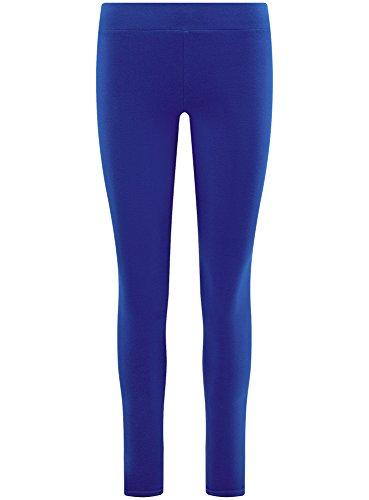oodji Ultra Femme Legging Basique en Maille Bleu (7501N)