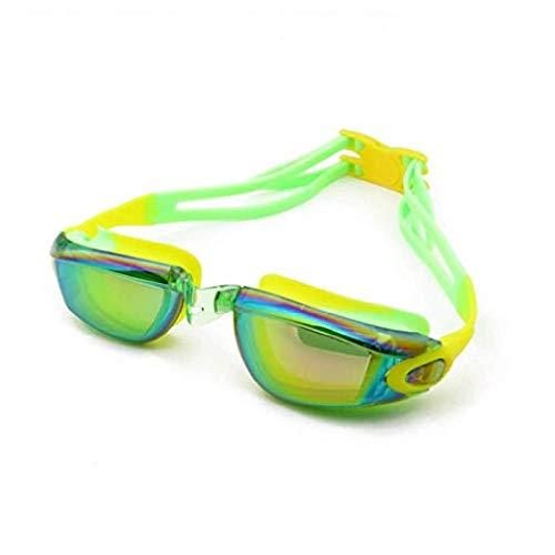 fyhtydsr Sommer-Schutzbrille-Jugendliche Schutzbrille-wasserdichte Bunte Überzug-Schwimmen-Gläser justierbare Gläser