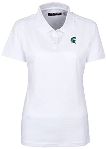 NCAA Michigan State Spartans Women's Solid Pique Short Sleeve Polo,