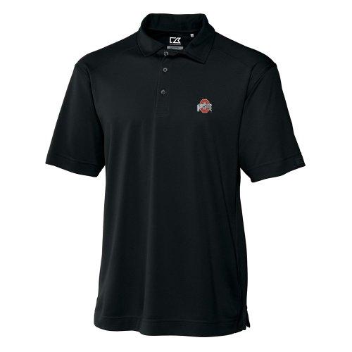 Cutter & Buck NCAA Herren Ohio State Buckeyes Drytec Genre Polo-T-Shirt, Schwarz, Herren, schwarz, X-Large (Football-t-shirt State Ohio)