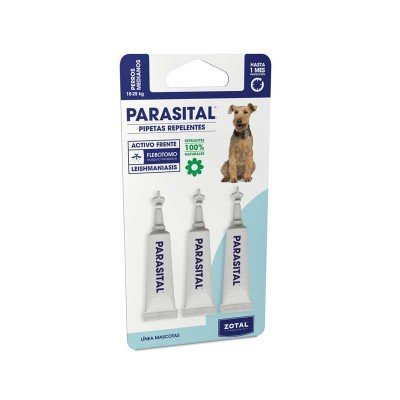 Pipette Repellent Medium Dogs from 10 to 25 kg Parasital Active Against Leishmaniasis