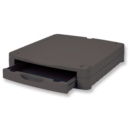 Compucessory 507184 - Soporte para Monitor con cajón, Negro