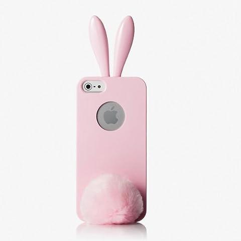 RABITO BUNNY Original Coque iPhone 5S/5 Protection Etui Portable LAPIN ROSE