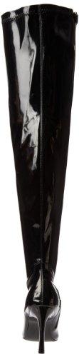 Pleaser Damen Lust-3000x Overknee-Stiefel, Ungef&Uumlttert Black (Blk Str Pat)