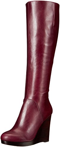 Nine West Women's Harvee Leather Knee-High Boot, Wine, 5.5 M US (High Nine Boots West Knee)
