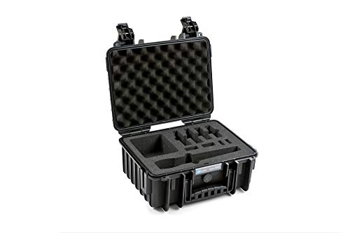 B&W International outdoor.cases Typ 3000 mit Hartschaumeinlage für 2 Senheiser AVX Systeme - Das Original, 365x295x170, schwarz Outdoor-systeme