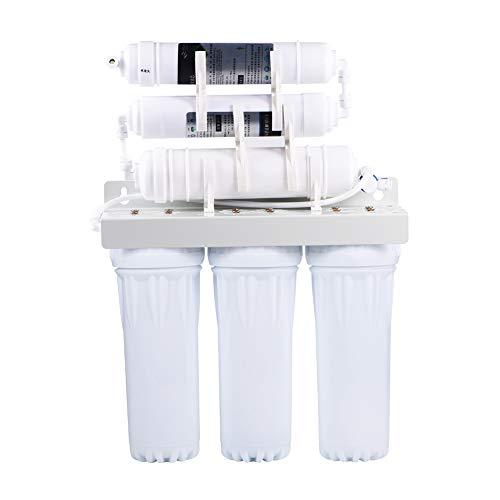 Umkehrosmose, 6 Stufige Wasserfilter System Ultrafilter Anlage Trinkwasser Filteranlage mit Wasserhahn für home office hotel und so weiter, Wandmontage oder Tischmontage, 50 * 14 * 35cm -