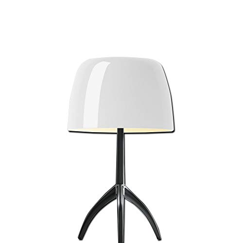 Foscarini Lampe de table Foscarini Lumiere 05 Grande – Chrome noir/blanc