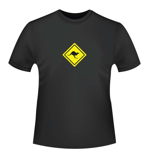 Australien Känguru Roadsign, Herren T-Shirt - Fairtrade, Größe -