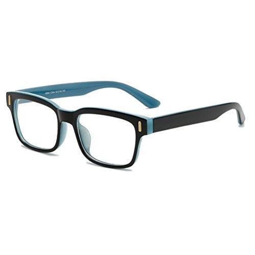 Zhhlaixing Mode Universal Eyeglasses Frames Full-Rim Flat Glasses Spectacles for Men and Women