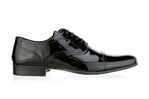 Ruban Rouge Wootton jusqu'en dentelle robe formelle brevets Chaussures en cuir pour homme Noir Noir