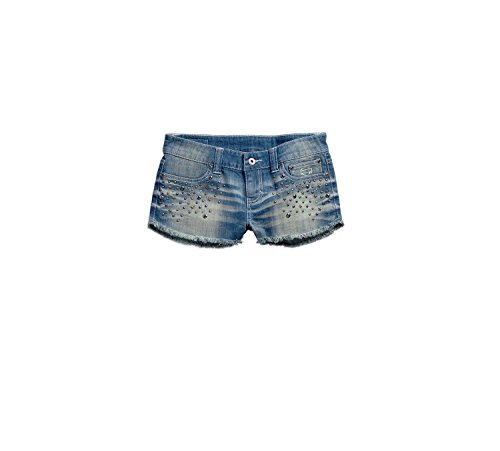 Harley-Davidson Studded Denim Short 96282-16VW Damen Shorts, blau