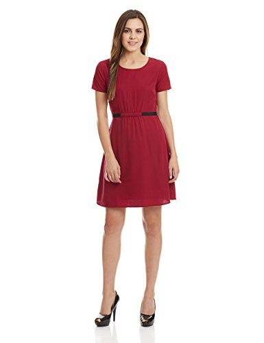 United Colors of Benetton Women's A-Line Dress (16A4CP1V6379I902M_Wine)