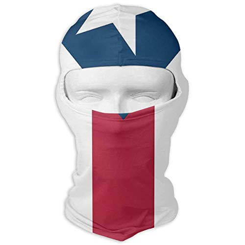 Puerto Rico Flag Winter Tactical Full Face Mask Sun Protection Balaclava Hood for Men and Women