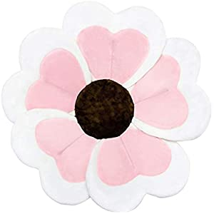 VERNASSA New Baby Bathtub, Flower Cute Foldable Plush Bath Mat Cushion for Newborn Christening Birthday Party Gift, Baby Sink Bathing, Soft&Comfy, Multicolor