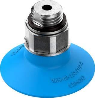 VAS-40-1/4-PUR-B (1396092) Vakuumsauger Höhenausgleich Sauger:3,0mm Nenn-weite:4,0mm Farbe:blau