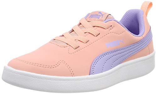 Puma Courtflex PS, Scarpe da Ginnastica Basse Unisex-Bambini, Viola (Sweet Lavender-Peach Bud White), 32 EU