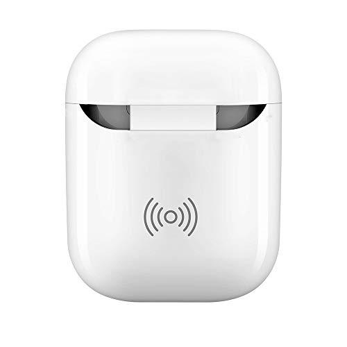 FiedFikt Qi Wireless Ladegerät Receiver Auflade-Headset Hülle für Apple Airpods Kopfhörer Box Adopt True Wireless Technologie Intelligente Ladebox -