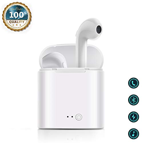 3D Surround Sound,Bluetooth-Headsets Drahtlose Kopfhörer Headset Bluetooth In-Ear-Kopfhörer Wireless Stereo In-Ear-Freisprecheinrichtung für Apple Airpods Android/iPhone -