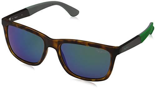Pepe Jeans Unisex-Erwachsene Titan Sonnenbrille, Braun (Tortoise/Grey), 54.0