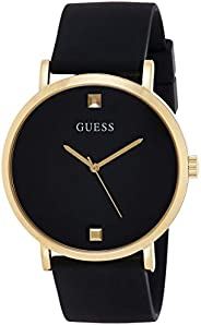 GUESS Mens Quartz Watch, Analog Display and Silicone Strap W1264G1