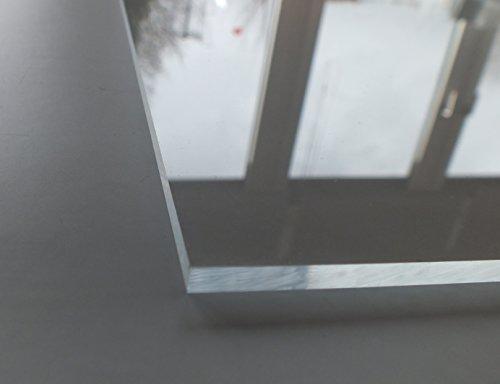 Acrylglas / Plexiglas | PMMA | transparent | glasklar | UV beständig | beidseitig foliert | im Zuschnitt | 4 mm stark (40x40 cm) - 2