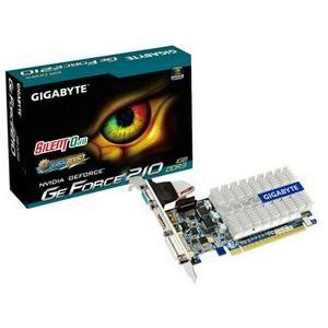 Gigabyte GV-N210SL-1GI - GIGABYTE NVIDIA GT210 1GB 520MHz 1200MHz 1GB 64-bit DDR3 Dual-link DVI HDMI SILENTCELL LOW PROFILE COMES WITH LP BRACKETS FOR HDMI DVI VGA PCI-E GRAPHICS CARD