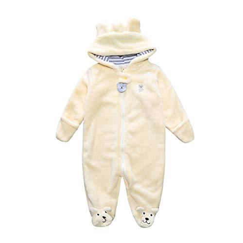 Fairy Baby Pagliaccetti Toddler Boys Girls Tute per animali Con Cappuccio Fleece Winter Baby Outfits Size 9 (Yellow)