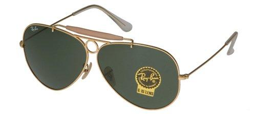 Ray-Ban Herren Flieger Polarisierte Sonnenbrille RB3025, Schwarz, One - Aviator Sonnenbrille Ban Ray Schwarze