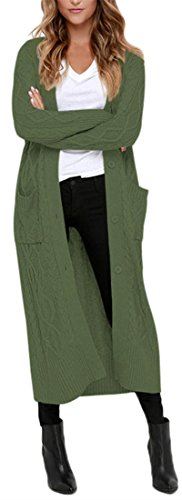 3 horses -  Cardigan  - Maniche lunghe  - Donna verde militare