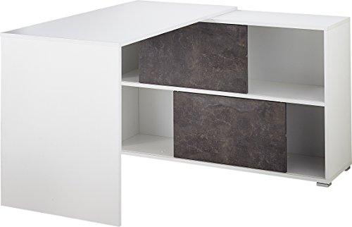 Germania GW Altino Bureau 4155, Bois, Blanc/Basalto Sombre, 120 x 75 x 120 cm