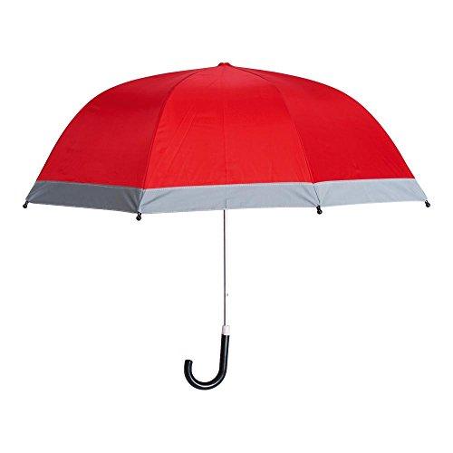 Regenschirm mit Reflektoren ROT (Shop Handtasche Trendige)