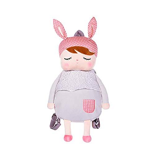 Kinder Rucksack Grau Kleinkind Tasche Kaninchen Karikatur-Kind-Plüsch-Schule-Rucksack für 3-5 Jahre Kinder