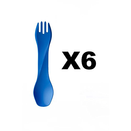 humangear-gobites-uno-utensil-fork-and-spoon-bpa-free-camping-tool-blue-6-pack